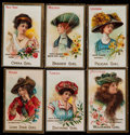 "Non-Sport Cards:Singles (Pre-1950), 1910-11 T106 Perfection Cigarettes ""State Girl Series"" Complete Set(25)...."