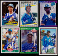 Baseball Cards:Lots, 1989 Ken Griffey Jr. Signed Rookie Year Card Collection (6)....
