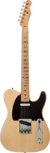 Musical Instruments:Electric Guitars, 1952 Fender Telecaster Blonde Solid Body Electric Guitar, #4742....