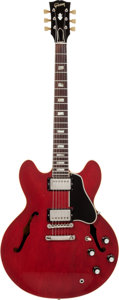 Musical Instruments:Electric Guitars, 1964 Gibson ES-335 Cherry Semi-Hollow Body Electric Guitar, Serial# 70718....