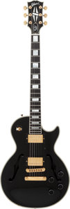 Musical Instruments:Electric Guitars, 1995 Gibson Les Paul Bantam Elite Florentine Black Solid BodyElectric Guitar, Serial # 59425....