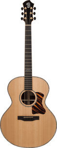 Musical Instruments:Acoustic Guitars, 2005 Patrick James Eggle Saluda Natural Acoustic Guitar, Serial #050118....
