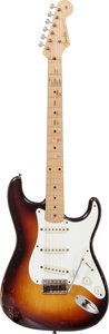 Musical Instruments:Electric Guitars, 1958 Fender Stratocaster Sunburst Solid Body Electric Guitar,Serial # 33909....