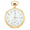 Timepieces:Pocket (post 1900), Elgin 14k Gold Open Face Pocket Watch. ...