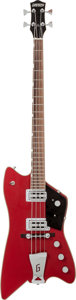 Musical Instruments:Bass Guitars, 2013 Gretsch Model G6199 Billy Bo Jupiter Red Electric Bass Guitar, Serial # JT12104497....