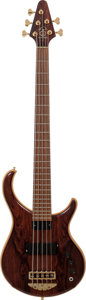 Musical Instruments:Bass Guitars, 2001 Alembic Excel B5 Natural 5 -String Electric Bass Guitar, Serial # 01X12695USA....