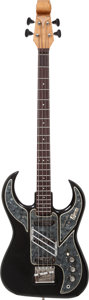 Musical Instruments:Bass Guitars, 1965 Baldwin/Burns Bison Black Electric Bass Guitar, Serial # 9543....