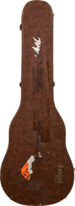 Musical Instruments:Miscellaneous, 1980's Gibson Les Paul Brown Electric Guitar Case....
