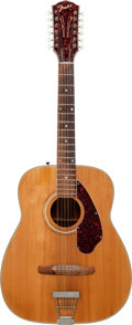 Musical Instruments:Acoustic Guitars, 1970's Fender F Series Natural 12 String Acoustic Guitar....