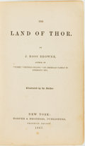 Books:Travels & Voyages, J. Ross Browne. The Land of Thor. New York: Harper & Brothers, 1867....