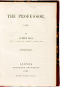 Books:Literature Pre-1900, [Charlotte Bronté]. The Professor, a Tale by CurrerBell. Leipzig: Bernhard Tauchnitz, 1857....