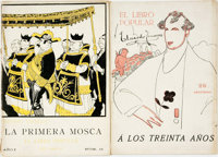 [Illustrated Periodicals]. Two Issues of Spanish Periodical El Libro Popular. Madrid