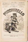 Books:Periodicals, [Bound Periodicals, Humor]. Punchinello (Complete Run),Vols. I & II, Nos. I - 39. April 2, -December 24, 1870. ...