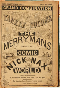 [Bound Periodicals, Cartoons, Humor]. The Comic World, Nos. I - XII, January - December 1877