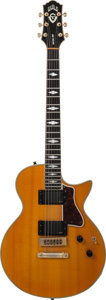 Musical Instruments:Electric Guitars, 1986 Guild Gruhn Nightbird Amber Solid Body Electric Guitar, Serial# BL100065....