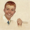 Fine Art - Painting, American:Contemporary   (1950 to present)  , Norman Rockwell (American, 1894-1978). Portrait of a Young Boy(possibly intended for Crest toothpaste advertisement), c...