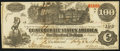 Confederate Notes:1862 Issues, T39 $100 1862 PF-13 Cr. 296.. ...