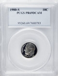 Proof Roosevelt Dimes: , 1980-S 10C PR69 Deep Cameo PCGS. PCGS Population (4314/102). NGCCensus: (311/7). Numismedia Wsl. Price: $18. (#95260)...