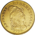 Early Half Eagles: , 1798 $5 Large Eagle, Small 8--Whizzed--NCS. AU Details. Breen-6430,BD-6, R.6. An affordable example of this rare die pairi...