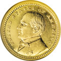 Commemorative Gold: , 1903 G$1 Louisiana Purchase/McKinley MS63 PL NGC. An unusuallyreflective example with a touch of olive on the reverse of t...