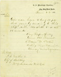 Autographs:Military Figures, Admiral David D. Porter 1863 Letter Signed Regarding Guns with Endorsement Signed by General E.O.C. Ord. Manuscript Letter S... (Total: 6 )