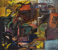 TINCIE HEDDINS (1905-1992) Untitled, 1966 Oil on artistboard 18in. x 21in. Signed and dated lower right  Zelma Zoe Hug...