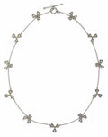 Estate Jewelry:Necklaces, Diamond, Platinum Necklace, Cathy Waterman. The clover and chain motif necklace features full-cut diamonds weighing a tota...