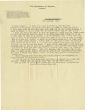 Basketball Collectibles:Others, 1916 James Naismith Typed Letter with Mailing Envelope....