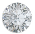 Estate Jewelry:Other , Unmounted Diamond. The unmounted round brilliant-cut diamondmeasures 9.89 x 10.02 x 6.23 mm and weighs 3.77 carats. A GIA...