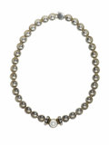 "Estate Jewelry:Necklaces, Mabe Pearl, Gold, Sterling Silver Necklace, Lagos. The disc link necklace, from the ""Caviar"" collection, features a mabe p..."