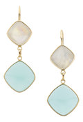 Estate Jewelry:Earrings, Moonstone, Chalcedony, Gold Earrings. ...