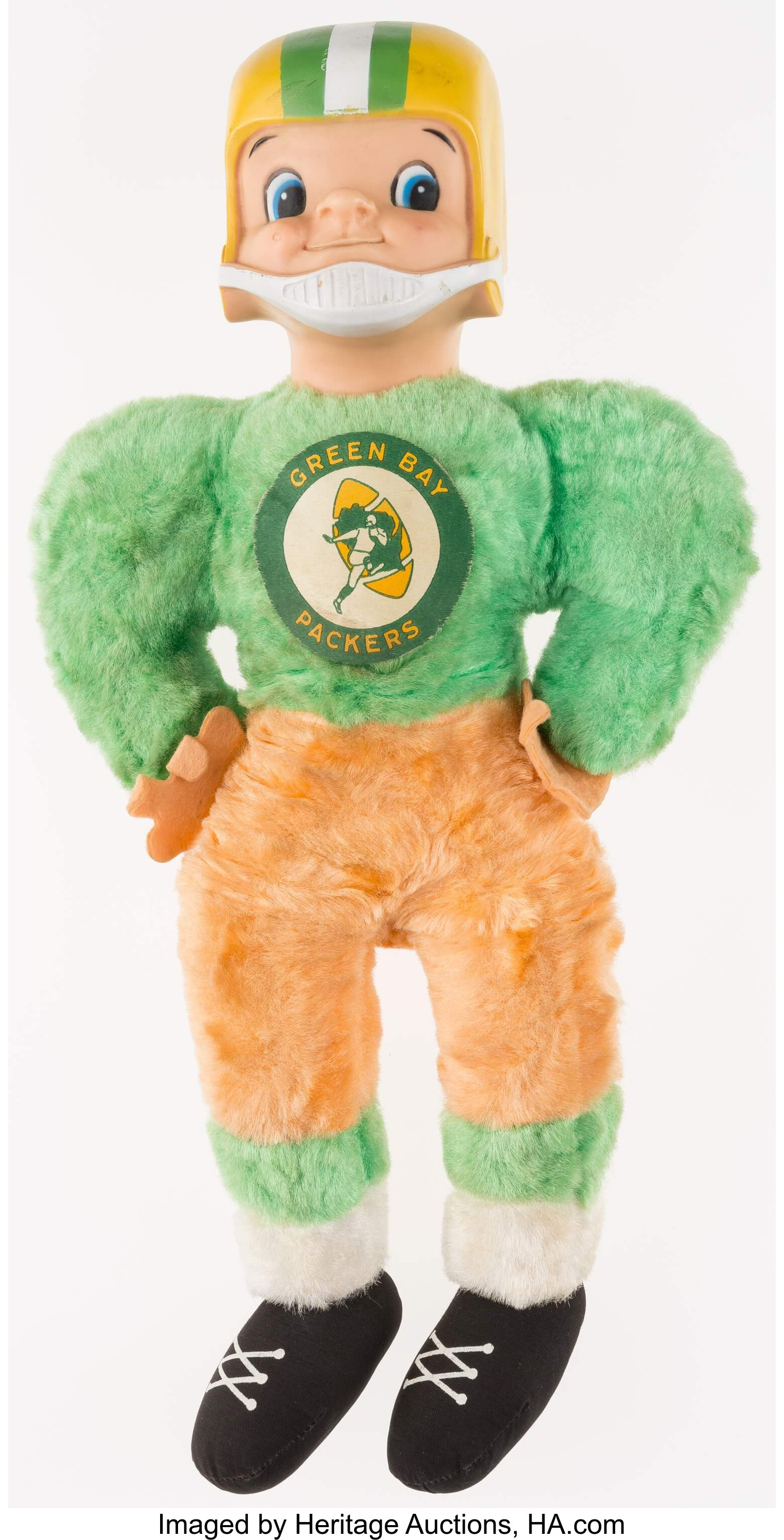 1967 Green Bay Packers Gund Nfl Licensed Stuffed Doll Lot 41142 Heritage Auctions