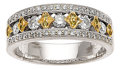 Estate Jewelry:Rings, Diamond, Colored Diamond, White Gold Ring. ...