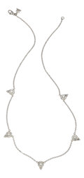 Estate Jewelry:Necklaces, Diamond, Platinum Necklace, Temple St. Clair. ...