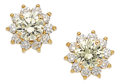 Estate Jewelry:Earrings, Colored Diamond, Diamond, Gold Earrings. ... (Total: 2 Items)