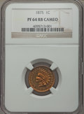 Proof Indian Cents, 1875 1C PR64 Red and Brown Cameo NGC. NGC Census: (0/1). PCGS Population (5/4)....