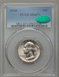 Washington Quarters, 1940 25C MS67+ PCGS. CAC. PCGS Population (115/2 and 30/0+). NGCCensus: (168/0 and 2/0+). Mintage: 35,715,248. Numismedia ...