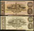 Confederate Notes:1862 Issues, $10 1862 and 1863 Notes.. ... (Total: 2 notes)