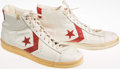 Basketball Collectibles:Others, Jim Paxson Game Worn, Signed Portland Trailblazers Shoes....