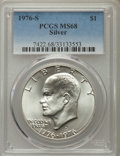 Eisenhower Dollars, 1976-S $1 Silver MS68 PCGS. PCGS Population (744/0). NGC Census: (73/0). Mintage: 11,000,000. Numismedia Wsl. Price for pro...
