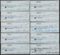Miscellaneous Collectibles:General, Sam Snead Signed Checks Lot of 10. ...