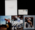 Football Collectibles:Photos, Football Greats Signed Memorabilia Lot of 4....
