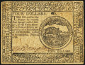 Colonial Notes:Continental Congress Issues, Continental Currency July 22, 1776 $4 About New.. ...