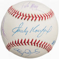 Baseball Collectibles:Hats, Pitching Greats Multi Signed Baseball (5 Signatures)....
