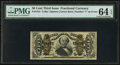 Fractional Currency:Third Issue, Fr. 1341 50¢ Third Issue Spinner Type II PMG Choice Uncirculated 64 EPQ.. ...