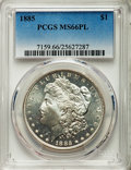 Morgan Dollars: , 1885 $1 MS66 Prooflike PCGS. PCGS Population (72/4). NGC Census: (47/4). Numismedia Wsl. Price for problem free NGC/PCGS c...
