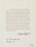 Baseball Collectibles:Others, 1941 Honus Wagner Signed Consent Waiver for The Pride of theYankees Lou Gehrig Movie. ...