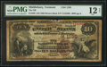 National Bank Notes:Vermont, Middlebury, VT - $10 1882 Brown Back Fr. 480 The NB of Middlebury Ch. # 1195. ...