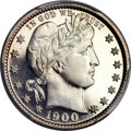 Proof Barber Quarters, 1900 25C PR67 Cameo PCGS....