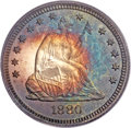 Proof Seated Quarters, 1880 25C PR67 Cameo PCGS. CAC. Briggs 2-B....